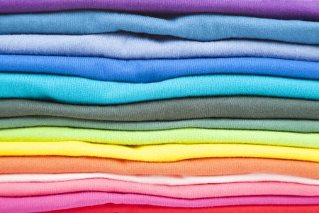 pile up: close up of colorful clothes