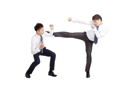 two asian businessman fighting  Stock Photo - 15263919