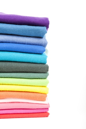 Pile of colorful t-shirts photo