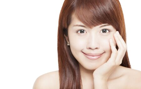 Close up of beautiful asian woman face Stock Photo - 15643970