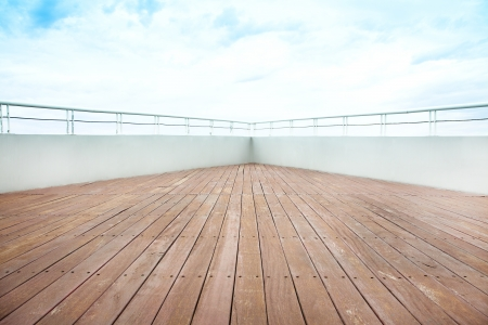 bateau voile: le pont du navire de croisi�re