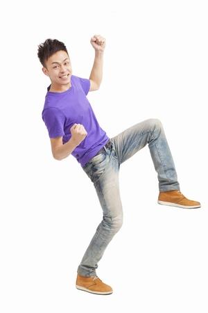Asian male model: chiều dài của hạnh phúc con người trẻ châu Á