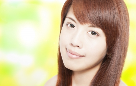 beautiful asian young woman face Stock Photo - 16029088