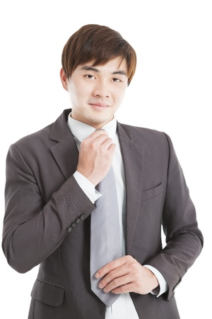 Handsome young asian businessman  photo