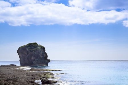 coasts: Sail rock in the kenting national park   taiwan Stock Photo