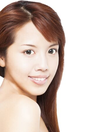 close up of beautiful smiling asian young woman face Stock Photo - 16689971