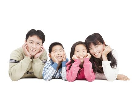 asia family: Familia asi�tica feliz Foto de archivo