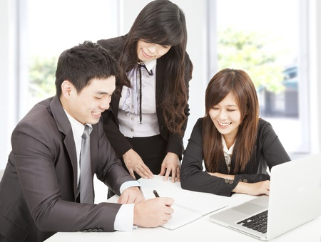 business team working in the office Stock Photo - 17357733