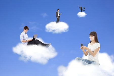 cloud computing concept and technology lifestyle  Stock Photo - 17419600