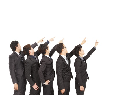 business group hand pointing to same direction Stock Photo - 17546132