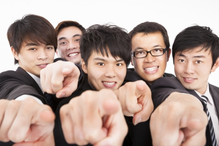 success business group finger pointing to camera Stock Photo - 17567695