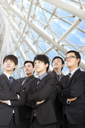 young business team standing in the modern office Stock Photo - 17573835