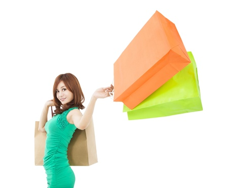 young woman holding shopping bag Stock Photo - 17663448