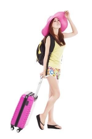 young woman enjoy summer vacation photo