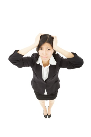 young businesswoman with headache photo