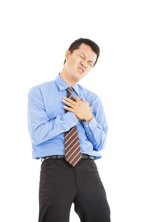 young businessman with heart attack Stock Photo - 19263951