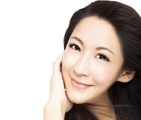 beautiful young asian Woman face  Stock Photo - 19454990