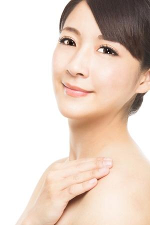 close up beautiful young asian Woman face  版權商用圖片