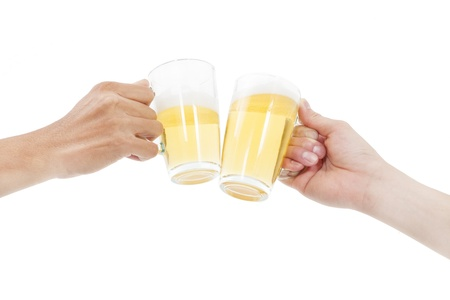 wallop:  hands holding beers making a toast