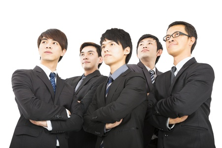 young asian business team standing together photo