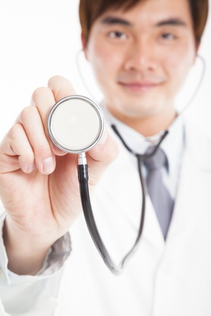 young smiling Doctor with stethoscope Stock Photo - 19873389