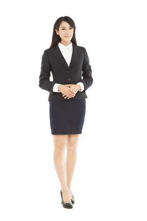 lady: full length beautiful businesswoman standing