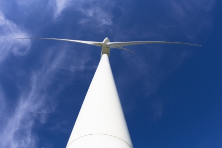 close up windmill power generator with blue sky Stock Photo - 21972316