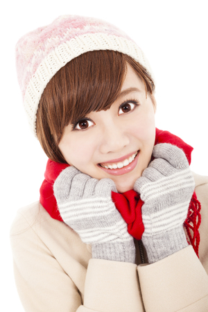 smiling asian girl with winter wear Stock Photo - 22483577