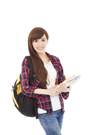 young student smiling and looking at camera Stock Photo - 22579193