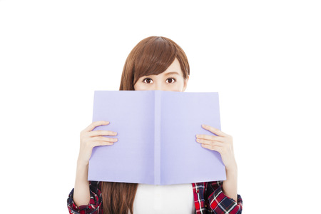 student girl holding the book Stock Photo - 23074210