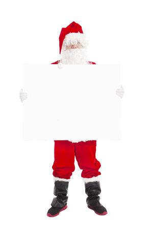 happy Santa Claus showing blank banner  photo
