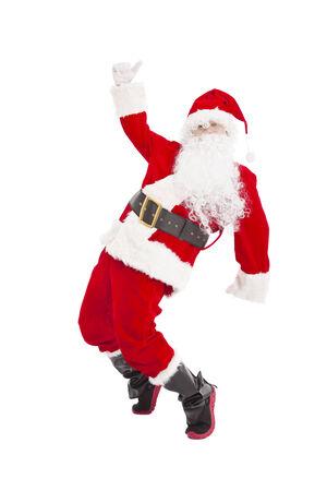행복한 크리스마스 산타 클로스 춤 스톡 콘텐츠
