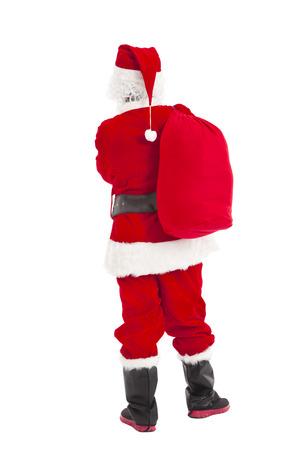 weihnachtsmann lustig: Frohe Weihnachten Weihnachtsmann stehend und R�ckansicht