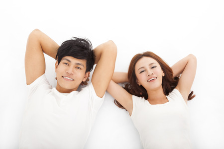 Young happy and relaxed couple  photo