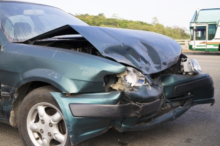 Car accident for insurance concept photo