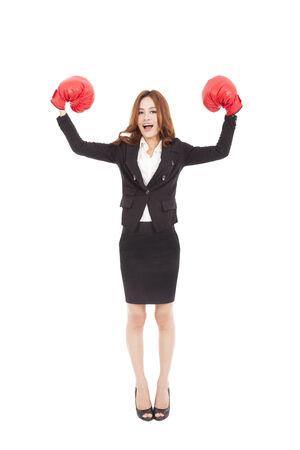 Strong businesswoman boss executive concept photo