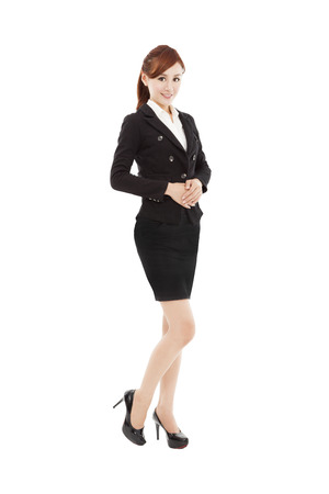 smiling young asian business woman  photo