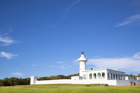kenting: white lighthouse in kenting national park . taiwan