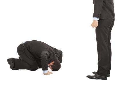 pardon: affaires excuses à patron à la position à genoux japonais