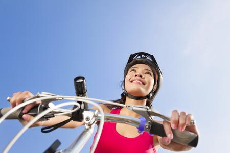 elevation: Mountain biking - portrait of young mountain biker