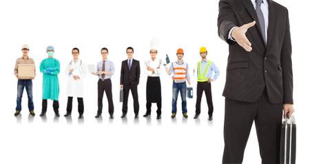 podnikatel spolupracovat s různými lidmi průmysl