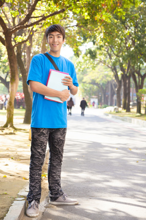 young student standing at campus  photo