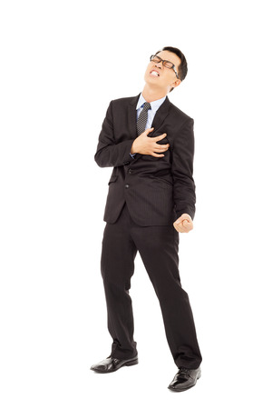 Businessman having a heart attack  photo
