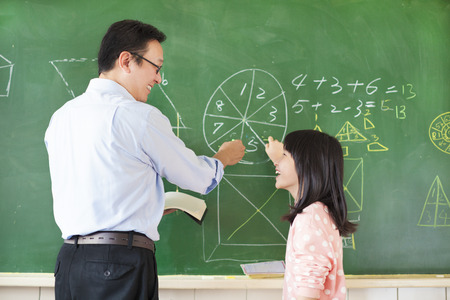 Teacher teach student how to solve the math questions