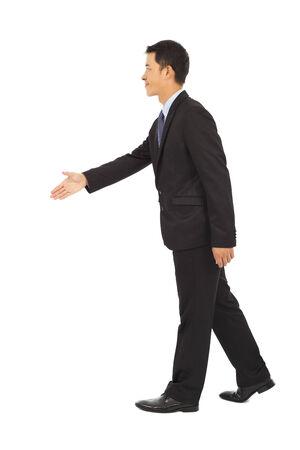 businessman standing: businessmen shaking hand