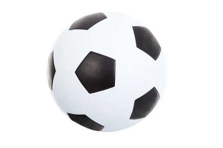 soccer ball isolated on white photo