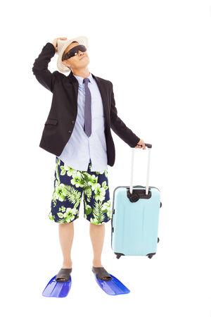 Unternehmer, die eine Gepäck-und nachschlagen