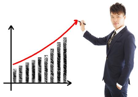 Affaires dessiner une courbe de croissance de la commercialisation Banque d'images - 27592875