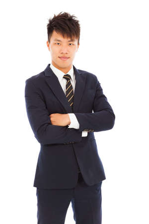 attractive young businessman photo