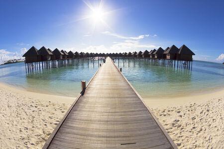 maldives island: beautiful beach and water villa.maldives